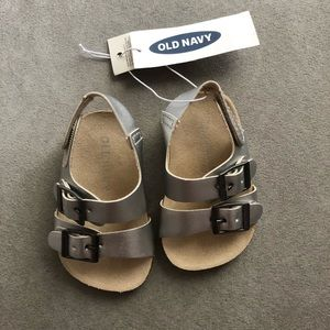 Silver 0-3 month sandals